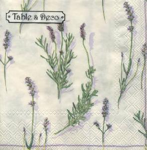 Table & Deco,  Blumen - Lavendel,  lunchservietten,  Lavendel