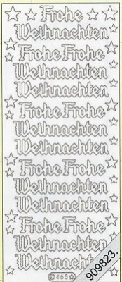 Stickers / Glitter transparent, silber,  Art - Stickers Glitter transparent,  Art - Glitter Sticker,  Schriften - deutsch,  Jahreszeit - Weihnachten,  Sterne,  Schriften