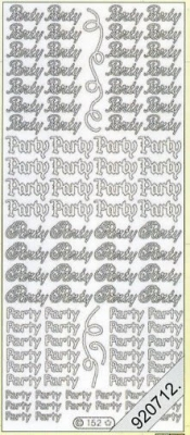 Stickers Party - silber