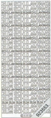 Stickers 0448 - Schulanfang - silber
