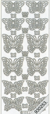 1 Stickers - 10 x 23 cm 1013 - Schmetterling - gold, gold,  Art - Stickers,  1013 - Schmetterling