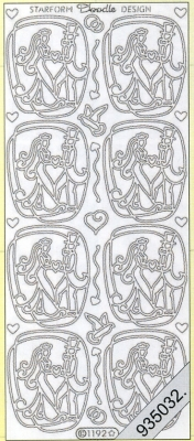Stickers Motive / Figuren - gold