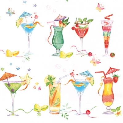 Servietten / Getränke,  Getränke - Coctails,  Everyday,  lunchservietten,  Cocktails