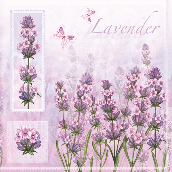 Servietten Everyday,  Blumen - Lavendel,  Everyday,  lunchservietten,  Lavendel