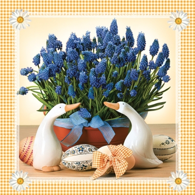 Lunch Servietten  MUSCARI orange