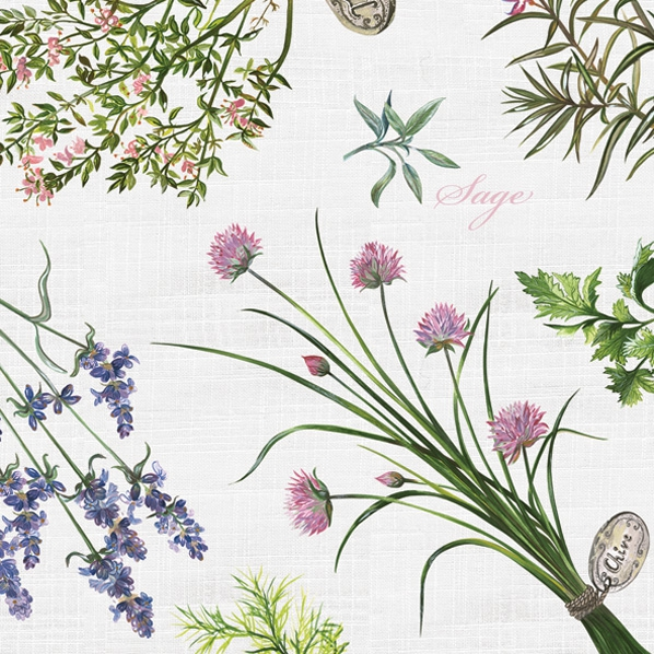Maki POL-MAK Collection,  Pflanzen,  Blumen - Lavendel,  Everyday,  lunchservietten,  Lavendel,  Rosmarin