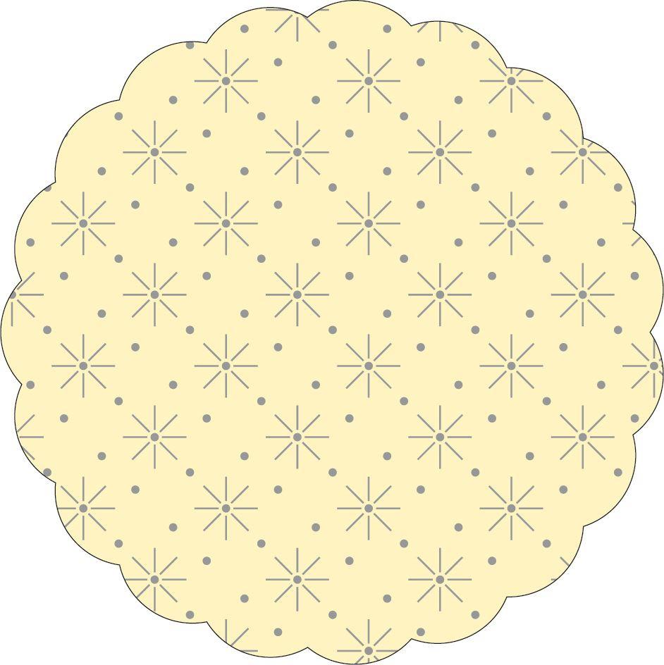 Untersetzer - BASIC: CREME (Sterne-Punkte-Prägung)