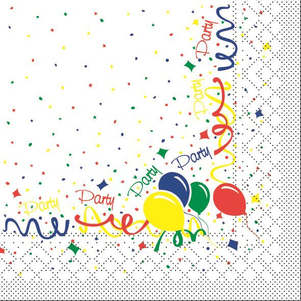 Tissue Servietten 33x33 cm - Party
