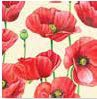 Servietten 25 x 25 cm,  Blumen - Mohn,  Everyday,  cocktail servietten