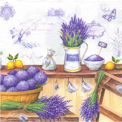 Servietten 25 x 25 cm,  Blumen -  Sonstige,  Blumen - Lavendel,  Blumen,  Everyday,  cocktail servietten