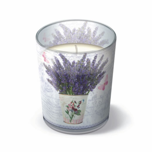 Glaskerze Flowering Lavender 