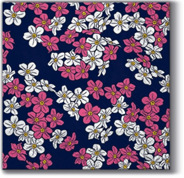 Cocktail Servietten Floral Carpet violet K