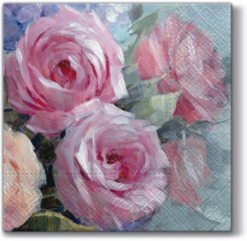 Servietten 33 x 33 cm,  Blumen - Rosen,  Everyday,  lunchservietten,  Rosen