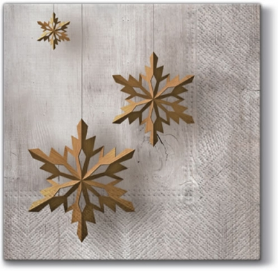 Lunch Servietten Snowflake on Wood