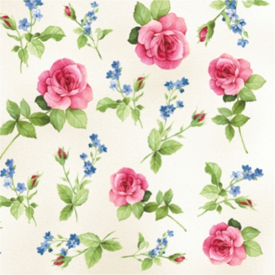 20 Servietten - 33 x 33 cm LEA LA ROSE,  Blumen - Rosen,  Everyday,  lunchservietten