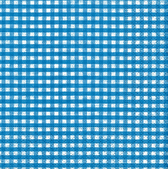 20 Servietten - 25 x 25 cm Vichy blue,  Sonstiges - Muster,  Everyday,  cocktail servietten,  Karos