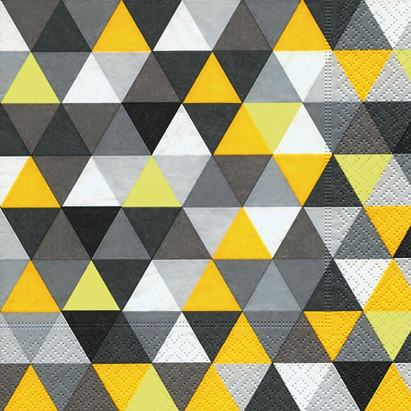 Lunch Servietten Triangles yellow/black