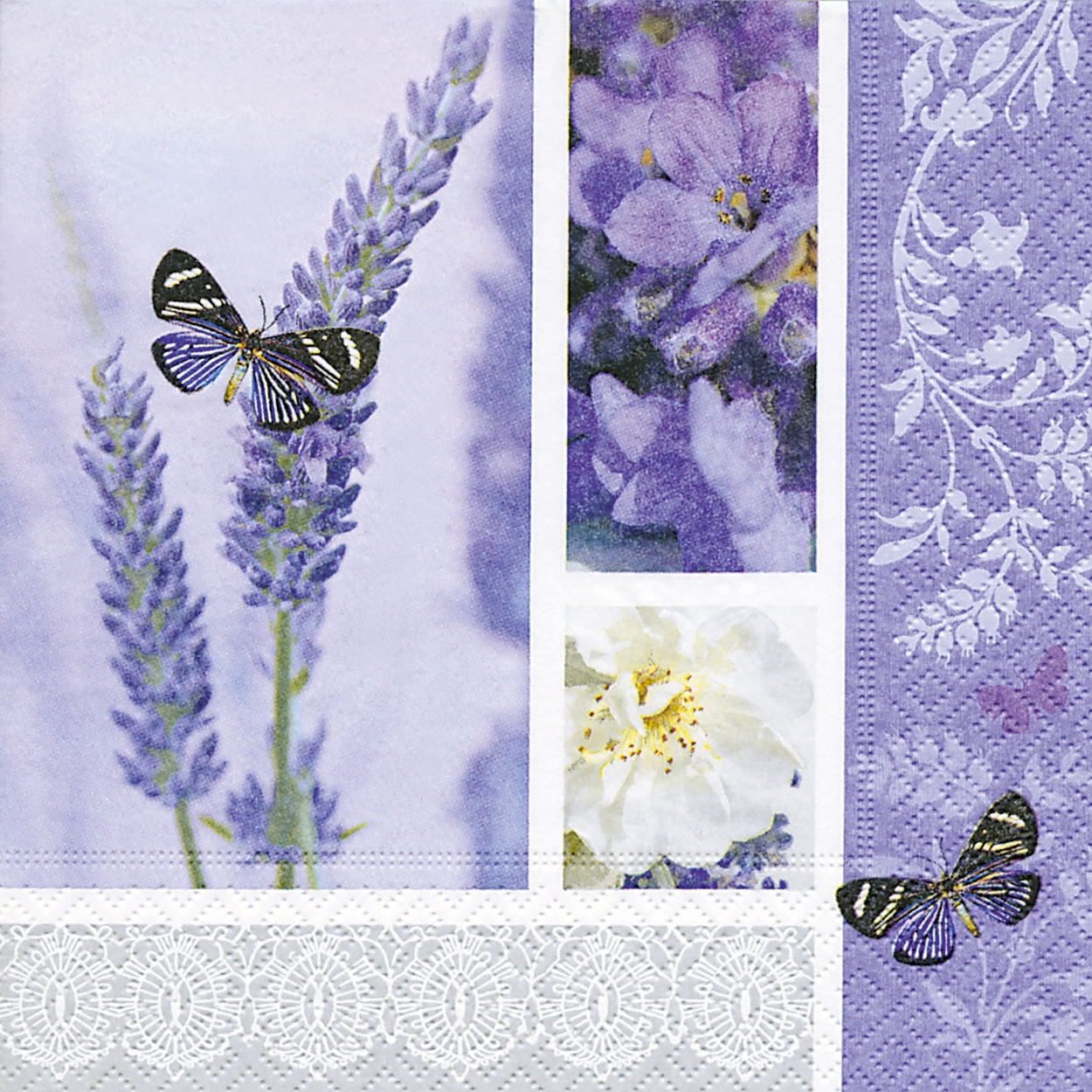 Servietten 33x33 cm - Dream of lavender