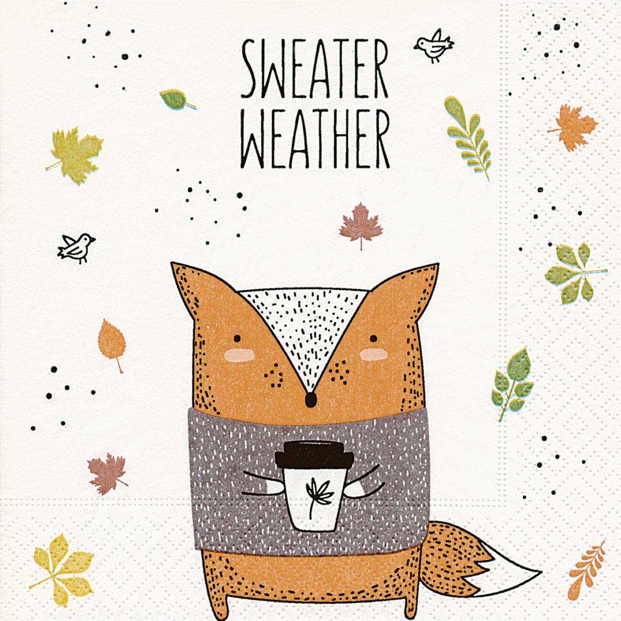 Servietten 33x33 cm - Sweater weather