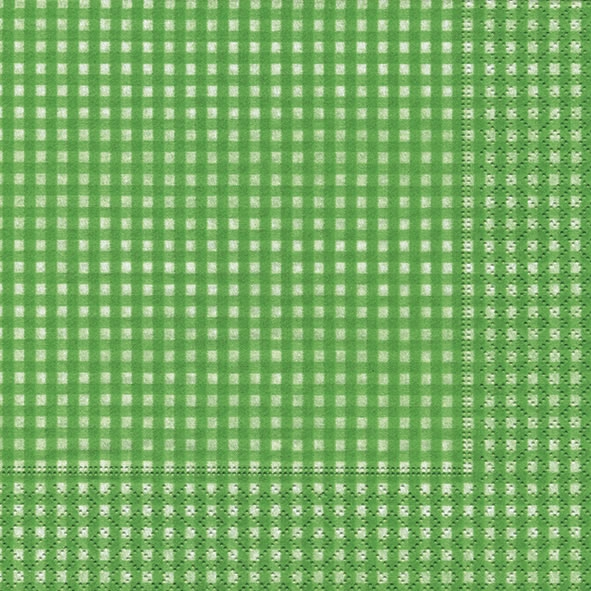20 Servietten - 33 x 33 cm Vichy green,  Sonstiges - Muster,  Everyday,  lunchservietten