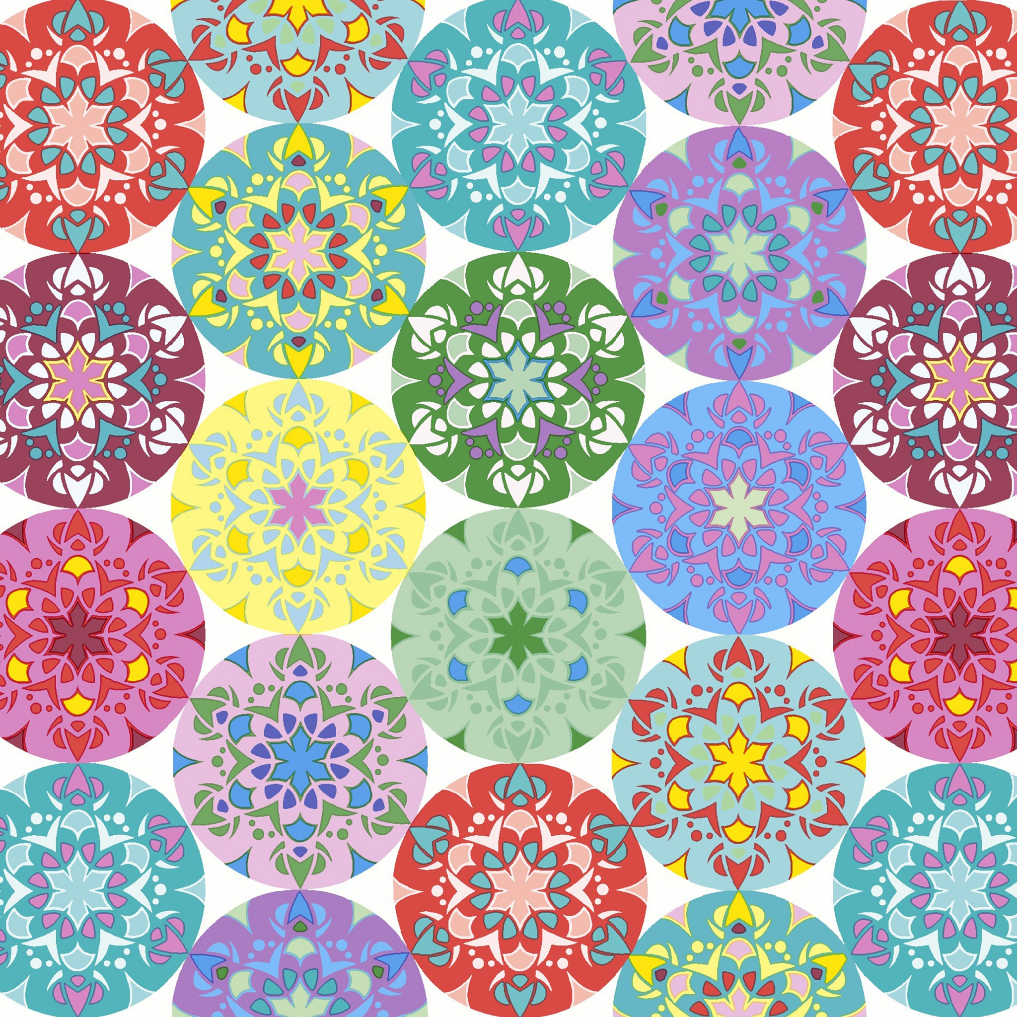 20 Servietten - 33 x 33 cm Mandala multi,  Sonstiges - Muster,  Everyday,  lunchservietten