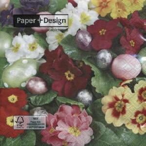 Paper+Design,  Blumen - Primeln,  Everyday,  lunchservietten,  Blumen,  Ostereier