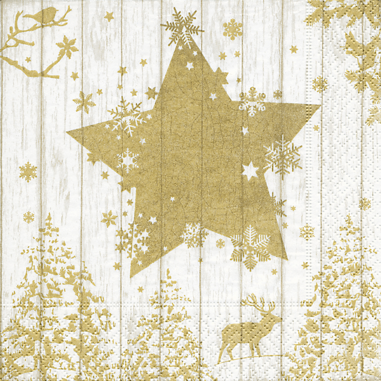 Lunch Servietten Winter print gold