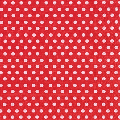 20 Servietten - 33 x 33 cm just dots red,  Sonstiges - Muster,  Everyday,  lunchservietten