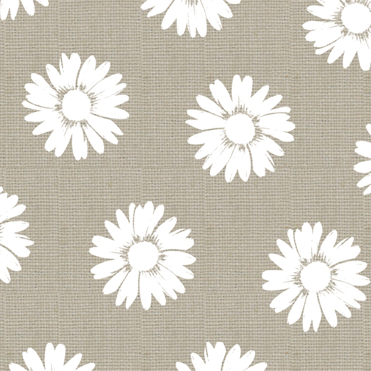 Cocktail Servietten Fashion Daisies taupe white 25x25 cm