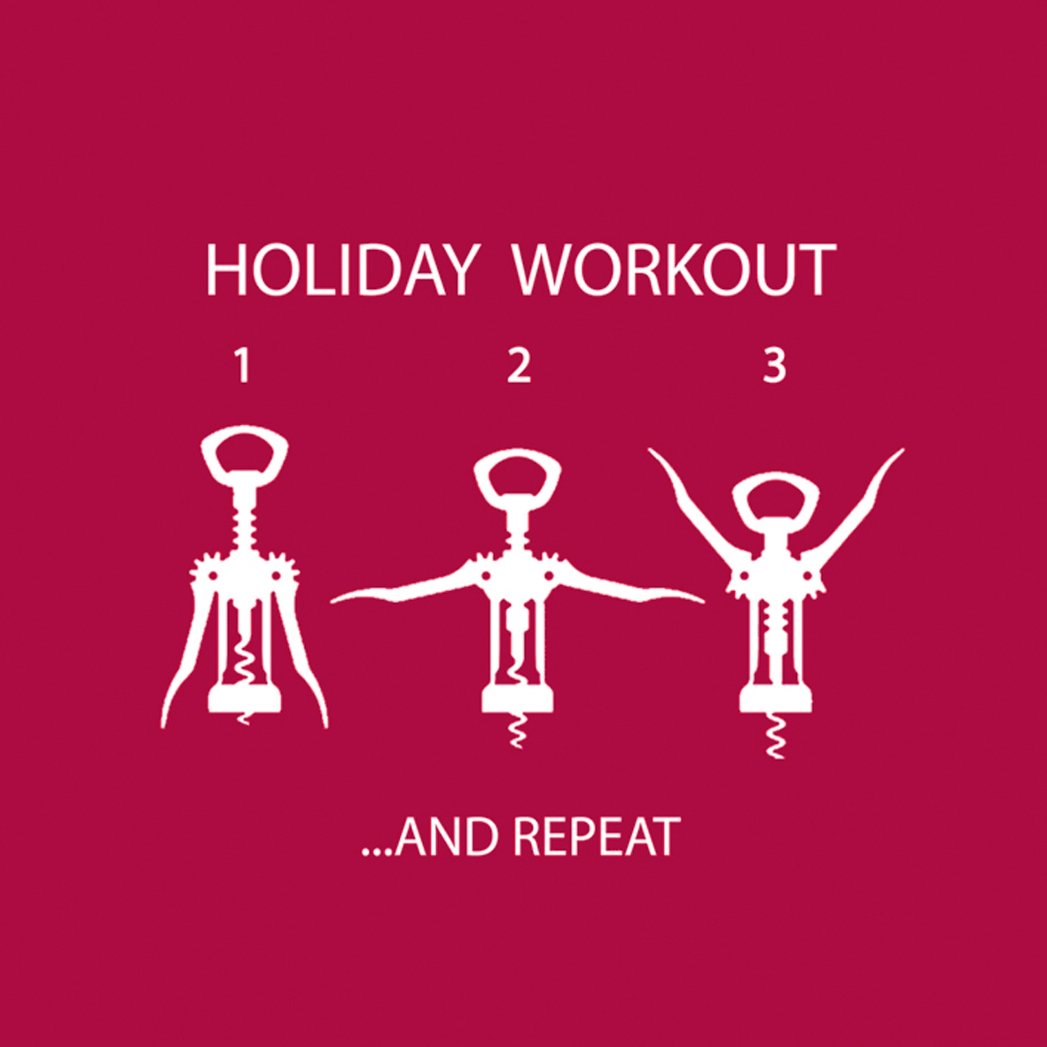 Cocktail Servietten Wine Lovers Workout 25x25 cm