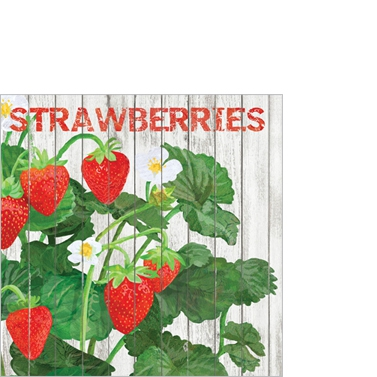 Servietten 25x25 cm - Harvest Strawberries