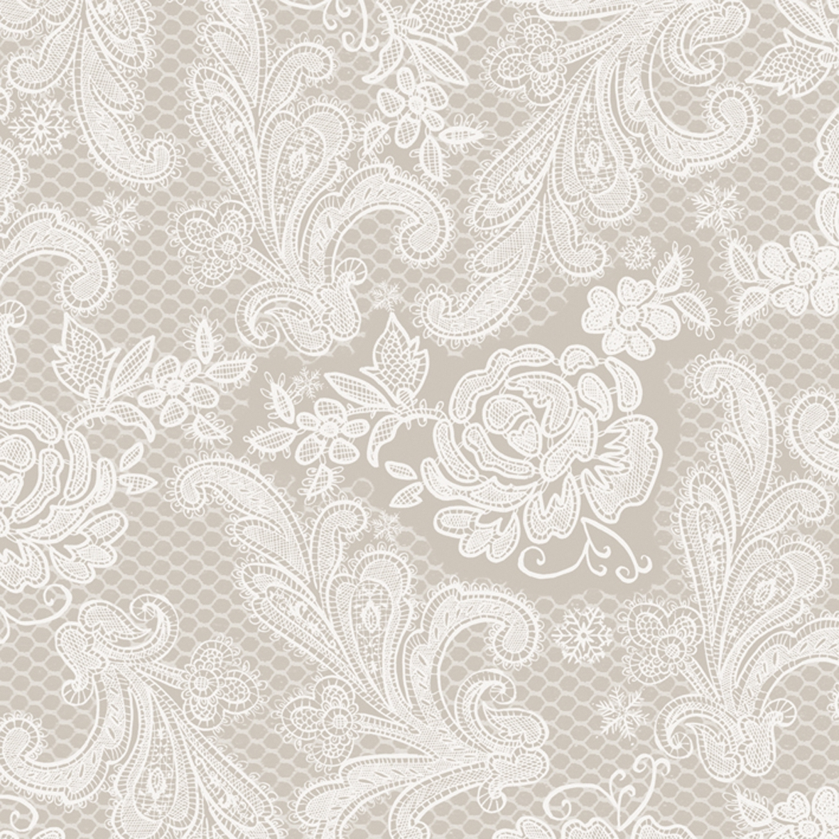 Lunch Servietten Lace Royal taupe