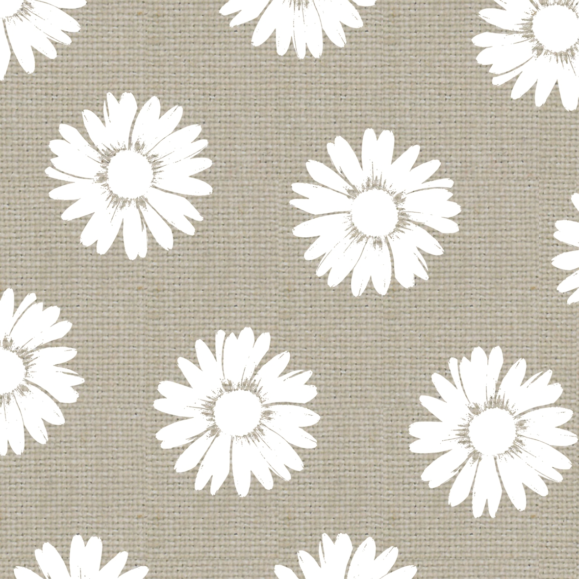 Lunch Servietten Fashion Daisies taupe white