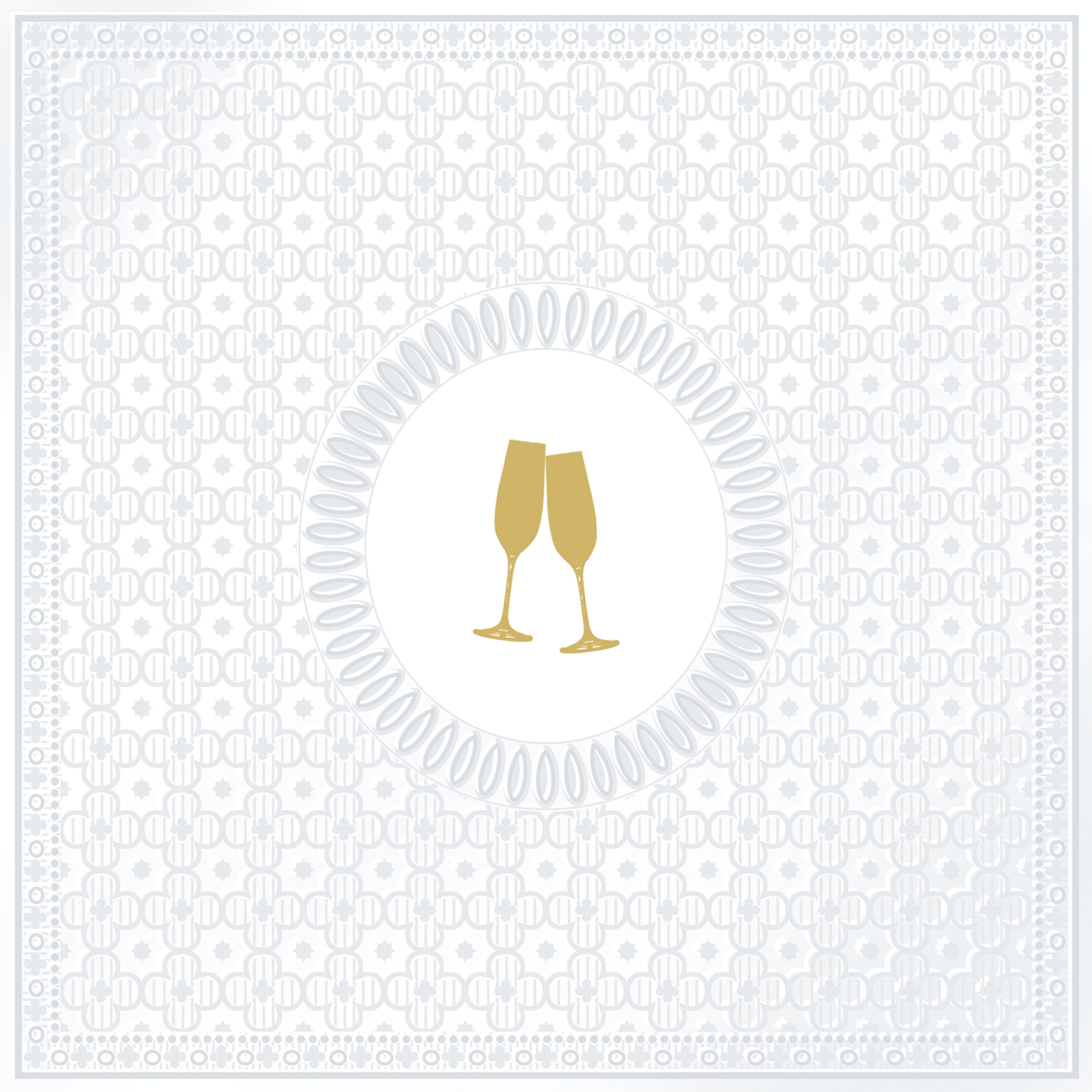 Lunch Servietten Medallion Cheers pearl