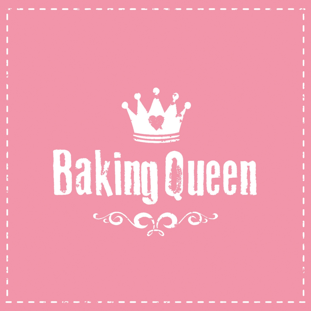 Lunch Servietten Baking Queen pink