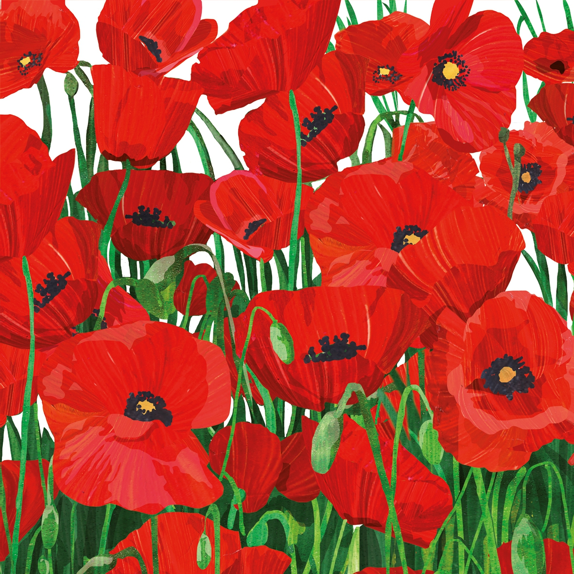 Lunch Servietten Red Poppies