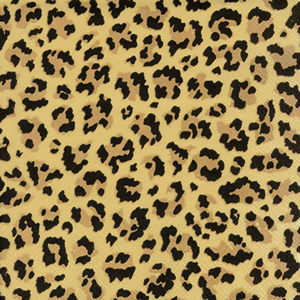 20 Servietten - 33 x 33 cm Leopard,  Tiere - Felle / Haut,  Everyday,  lunchservietten
