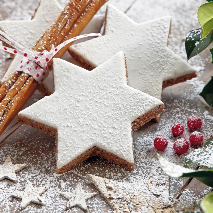 Lunch Servietten Cinnamon Stars Cookies