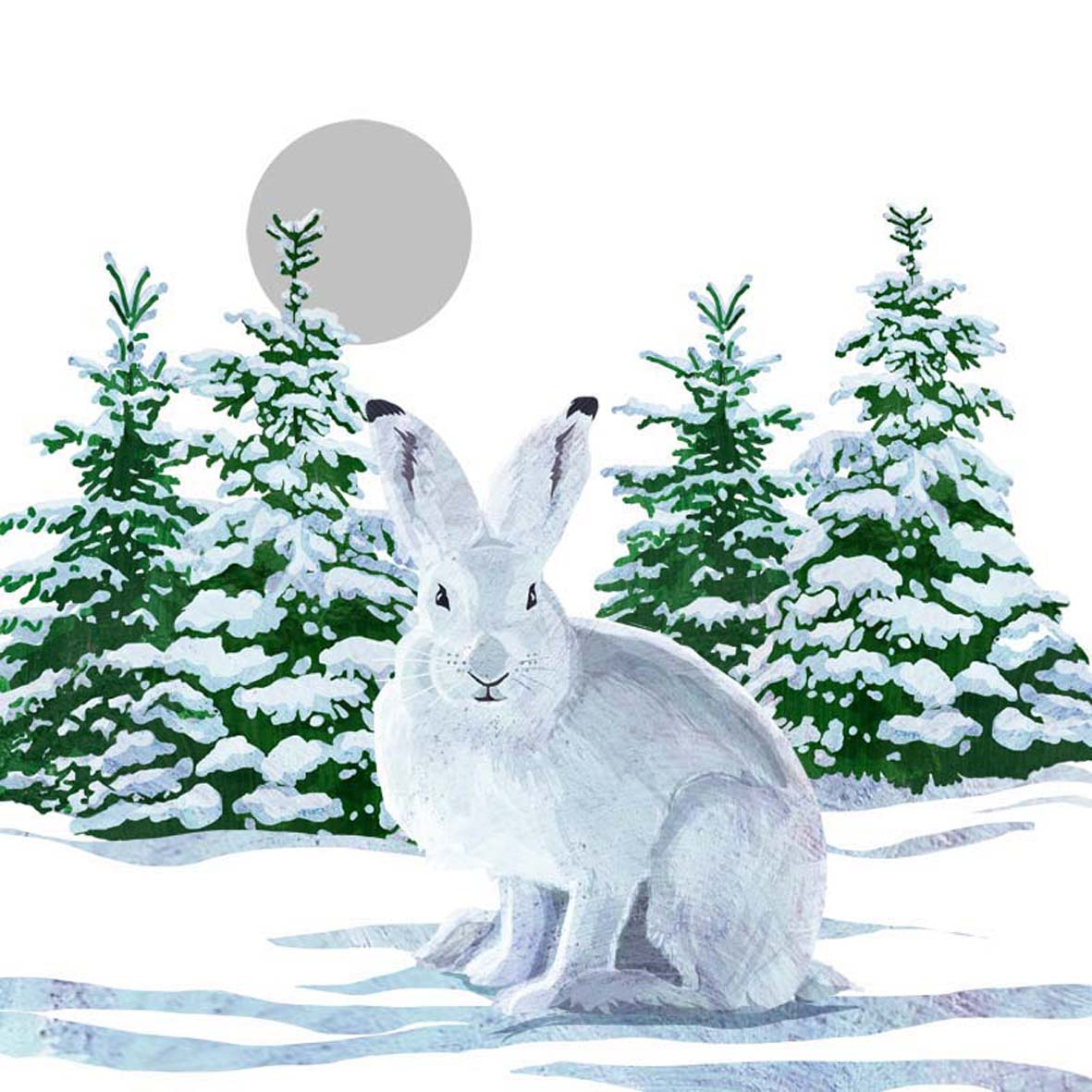 Lunch Servietten Snow Rabbit