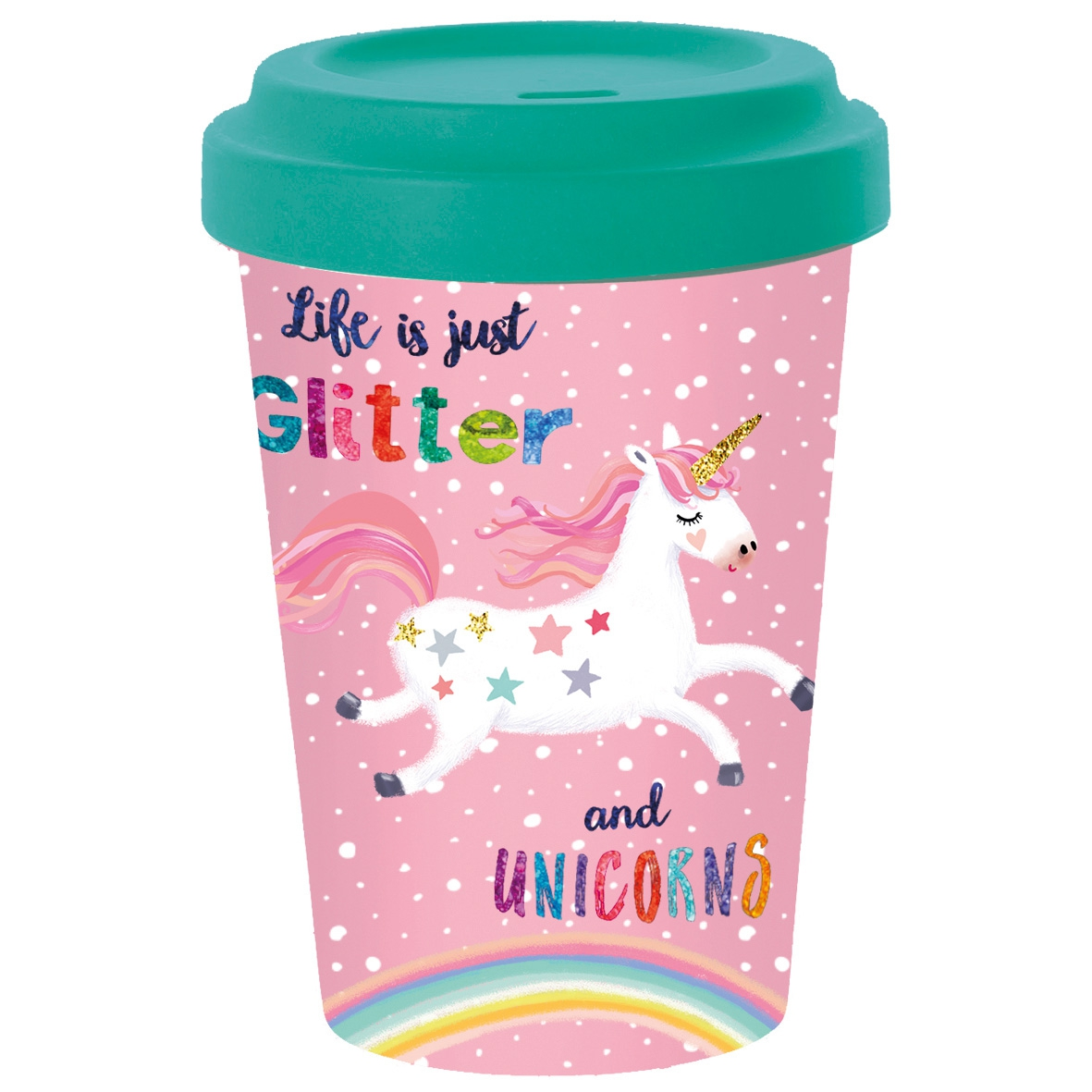 Bamboo mug To-Go - Glitter & Unicorns