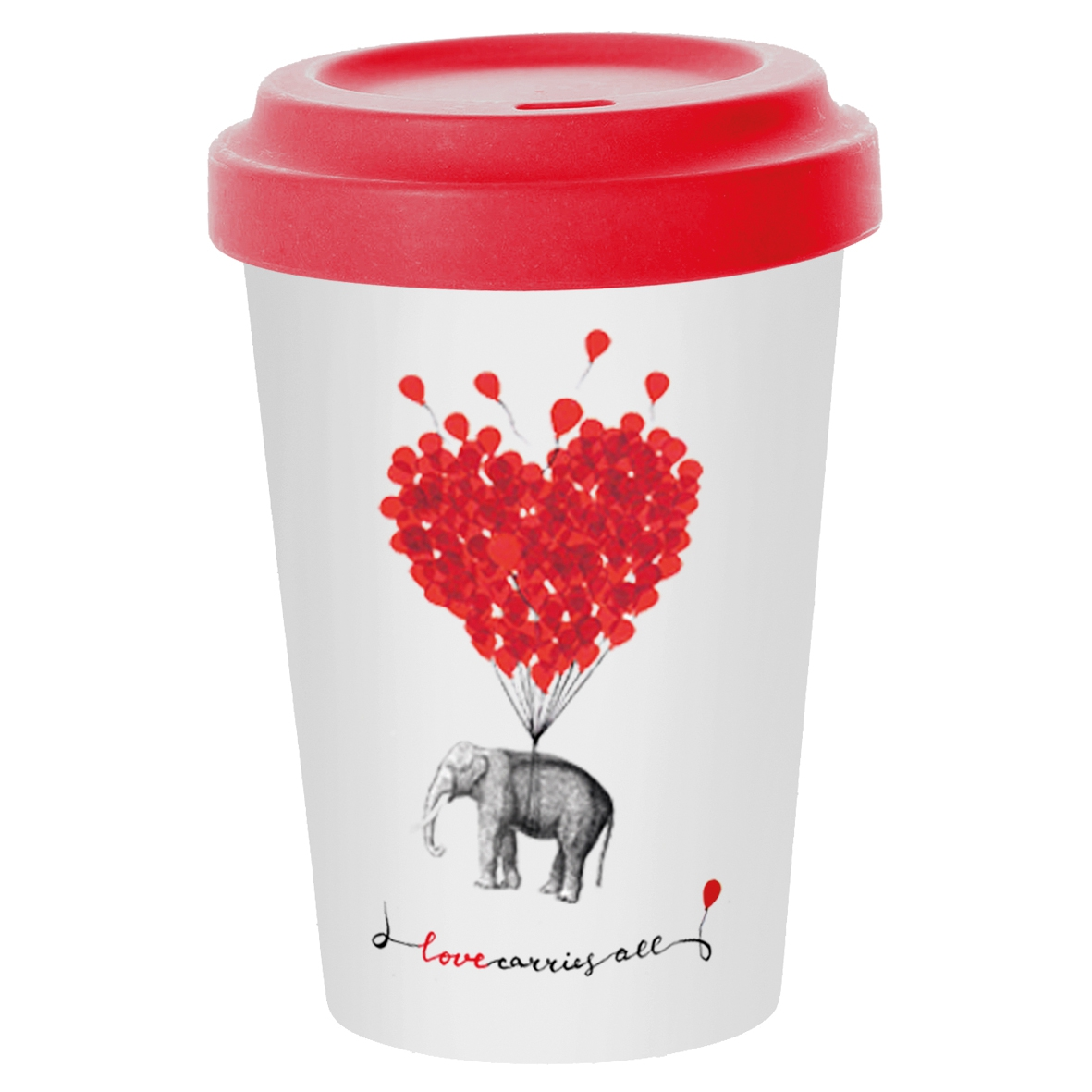*)Becher aus Bambus Love carries all