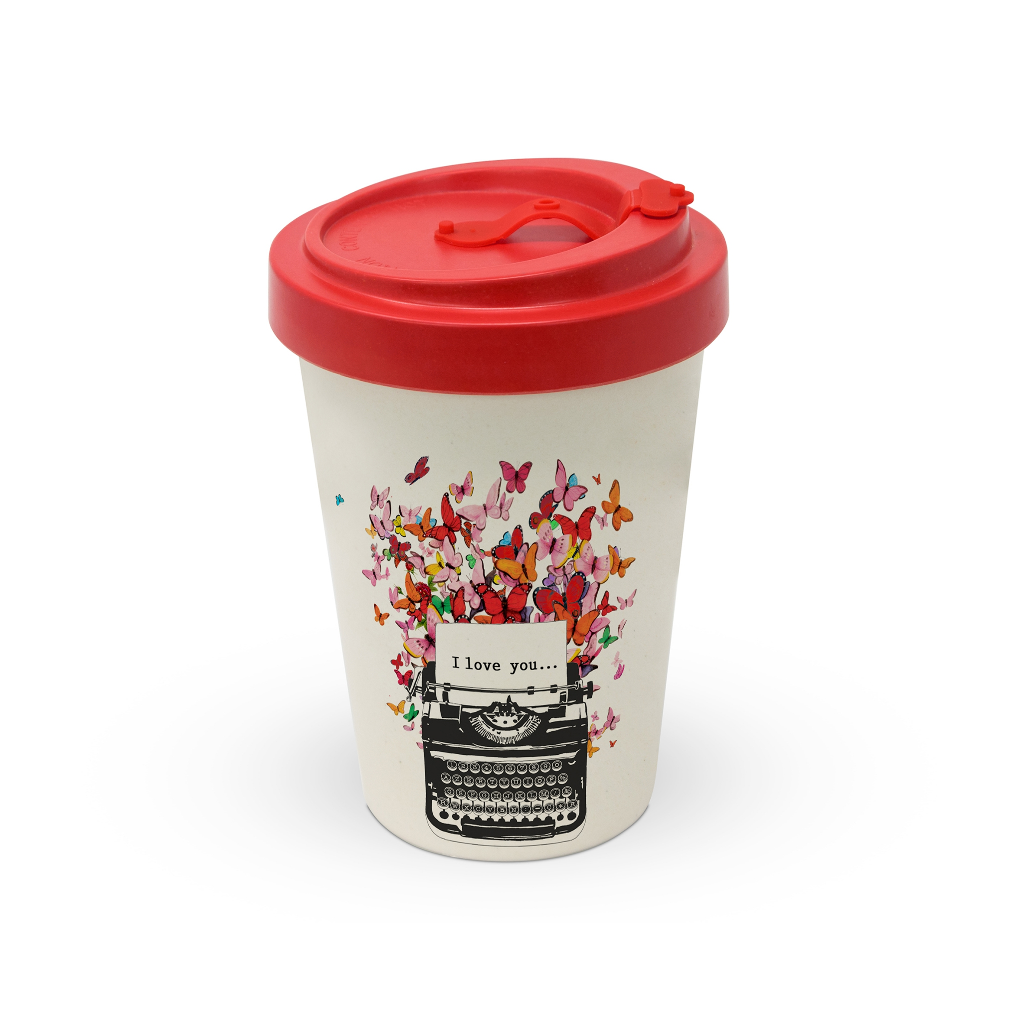 Bamboo mug To-Go - I Love You