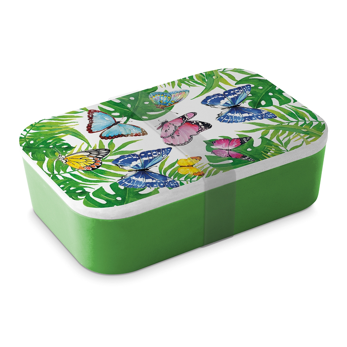 Bamboo Lunchbox - Tropical Butterflies