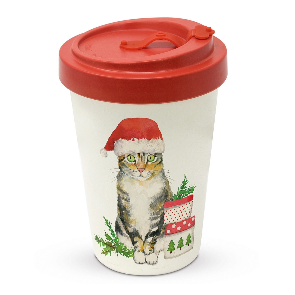 Bamboo mug To-Go - Christmas Kitty Travel Mug