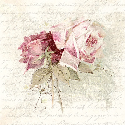 Lunch Servietten Vintage Rose Poem