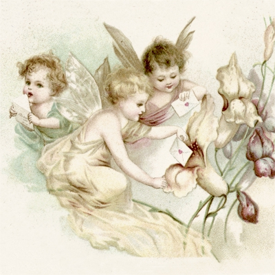 Servietten 33x33 cm - Love Letter Fairies