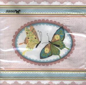 Servietten / Schmetterlinge,  Tiere - Schmetterlinge,  Ereignisse -  Sonstige,  Frühjahr,  lunchservietten,  Schmetterlinge,  Muster