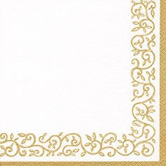 Cocktail Servietten Romantic Border gold-white