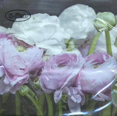 Lunch Servietten Pink & White Ranunculus