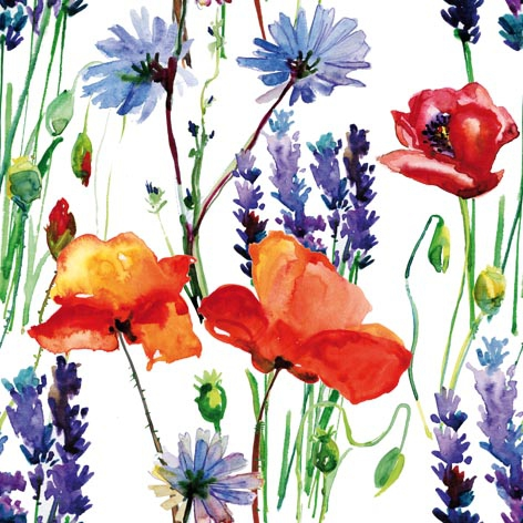Servietten 33x33 cm - Wild Summer Flowers